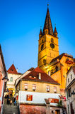 Evangelic Church in Sibiu, Transylvania, Romania Royalty Free Stock Photos