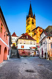 Evangelic Church in Sibiu, Transylvania, Romania Royalty Free Stock Photos