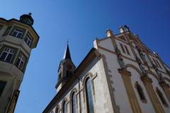 Evangelic church in tuttlingen. In south germany stock image