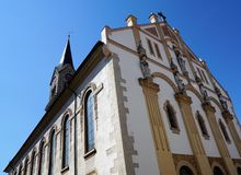 Evangelic church in tuttlingen. In south germany royalty free stock image