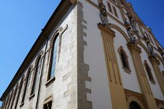 Evangelic church in tuttlingen. In south germany royalty free stock images