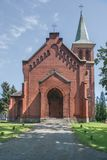 The Evangelical - Augsburg Church of the Apostles Peter and Paul in Pyskowice. Royalty Free Stock Photo