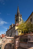 Evangelical Cathedral in Sibiu. Image showing the Evangelical Cathedral in Sibiu, Romania Stock Photo