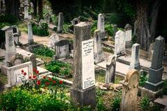Evangelical Cemetery, Sighisoara, Romania stock images
