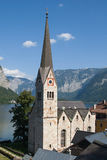 Evangelical church in Hallstatt Stock Photo