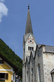 Evangelical church in Hallstatt Royalty Free Stock Photography