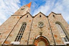 Evangelical Church in Salzkammergut, Hallstatt in Austria Royalty Free Stock Image