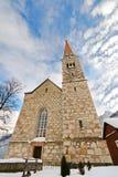 Evangelical Church in Salzkammergut, Hallstatt in Austria Royalty Free Stock Photos