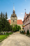 The evangelical church of Saschiz village, Romania Royalty Free Stock Image