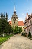 The evangelical church of Saschiz village, Romania. Saschiz fortified evangelical church in Transylvania, Romania Royalty Free Stock Image