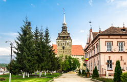 The evangelical church of Saschiz village, Romania Stock Image