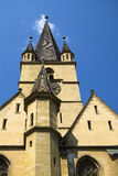 Evangelical church from Sibiu. The old evangelical church of Sibiu was  build in the 14th century Stock Images