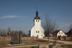 Evangelical church in the village of Neu Horno, Germany. Royalty Free Stock Image