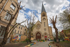 Evangelical Lutheran Cathedral of saints Peter and Paul in the area of Kitay-Gorod. Moscow, Russia Royalty Free Stock Photos