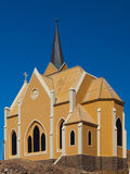 Evangelical Lutheran Church in Luderitz Stock Photos