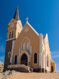 Evangelical Lutheran Church in Luderitz Stock Image