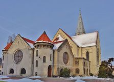 Evangelical Lutheran Church. St. Matthew in Lodz, Stock Image
