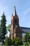 Evangelical village church Kaulsdorf Stock Photo