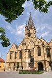 Evangelikal kyrka av Sibiu â Rumänien Arkivbild