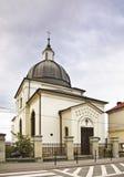 Evangelikal kyrka i Nowy Sacz poland Arkivfoto
