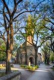Evangelikala Christian Church av Augsburg religiösa studier i den Subotica staden, Serbien Royaltyfri Foto