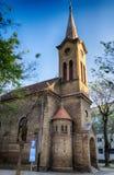 Evangelikala Christian Church av Augsburg religiösa studier i den Subotica staden, Serbien Arkivfoto