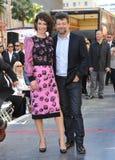 Evangeline Lilly & Andy Serkis Στοκ Εικόνες