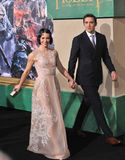 Evangeline Lilly & Lee Pace Royaltyfria Bilder