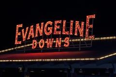 Evangeline Zestrzela Biegowego śladu Neonowego znaka Zdjęcia Stock