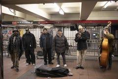 Evangelio y banda de jazz en la estación de Union Square fotografía de archivo libre de regalías