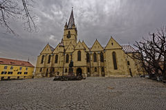 Evangelische Kathedrale Sibiu Rumänien Stockbilder