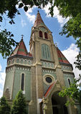 Evangelische Kerk in Oradea roemenië Stock Afbeelding