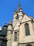 Evangelische Kerk van Sibiu â Roemenië Stock Foto's