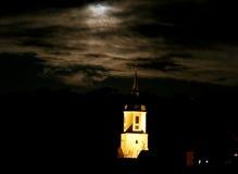 Evangelische Kirche in der Nacht Stockfoto
