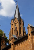 Evangelische Kirche i Linz, Tyskland Arkivfoto