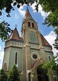 Evangelische Kirche in Oradea rumänien Stockbild