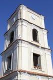 Evangelische Kirchen-Uhr Stockbilder