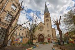 Evangelische Lutheran Kathedraal van heiligen Peter en Paul op het gebied van kitay-Gorod Moskou, Rusland royalty-vrije stock foto's