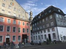 Evangelische Stadtkirche and das Rotes Haus Royalty Free Stock Photo