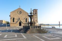 Evangelismos church in Rhodes, Greece stock photo