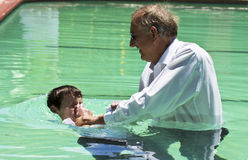 Evangelist Baptism submersion Stock Images