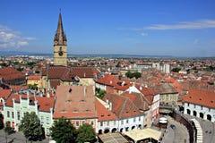 Evangelist Cathedral och bästa sikt för röda tak arkivbild