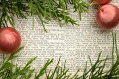 Evangelium av Luke, julberättelse Arkivbild