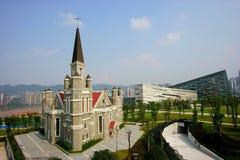 evangelium jiangbei för chongqing kristenkyrka Arkivfoton
