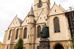 Evanghelical教会锡比乌罗马尼亚 免版税图库摄影