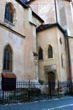 Evanghelical church in the city Sibiu, Transylvania Royalty Free Stock Image