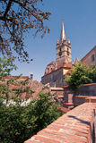Evanghelical Church in Sibiu. Image showing the Evanghelical Church and its famous tower Royalty Free Stock Photo