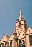 Evanghelical Church in Sibiu. Image showing the Evanghelical Church and its famous tower royalty free stock image