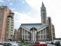 Evanghelical kyrka Sibiu Rumänien Royaltyfria Foton