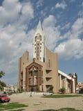 Evanghelical kyrka Sibiu Rumänien Arkivbild